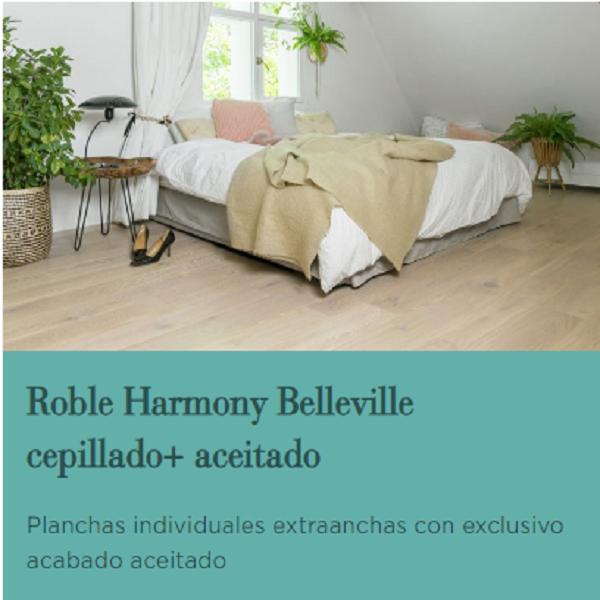 ROBLE HARMONY BELLEVILLE CEPILLADO Y ACEITADO CATEGORIA BERRYALLOC MADERA, Tarima Flotante de Madera, parqué